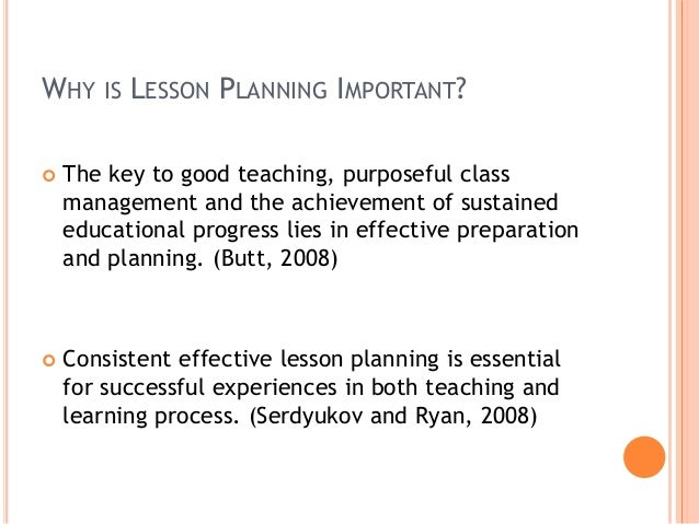 COMPARE THE STUDENTS; 5. WHY IS LESSON PLANNING IMPORTANT?