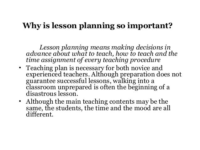Lesson Planning By Sajjad Ahmad Awan Phd Research Scholar