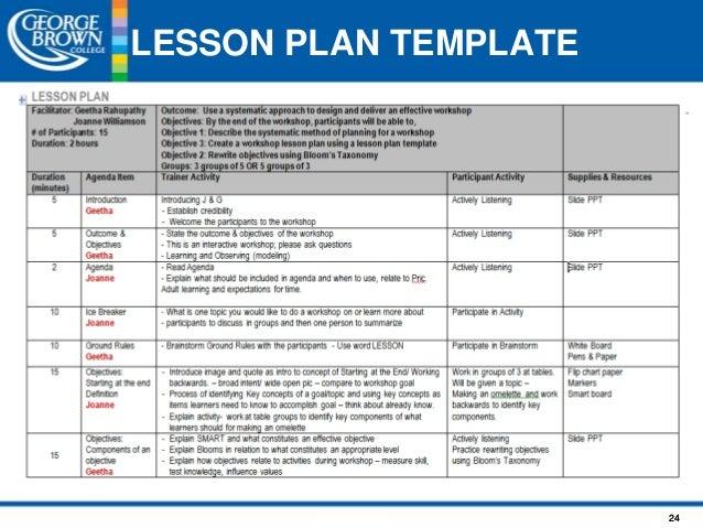 Lesson Planning Original - Bloom taxonomy lesson plan template