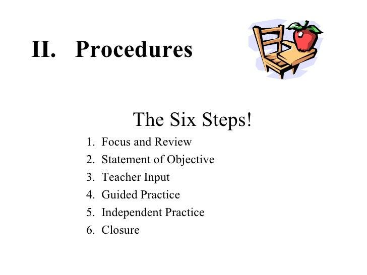 Lesson Planning ELEM 4525 – Six Step Lesson Plan