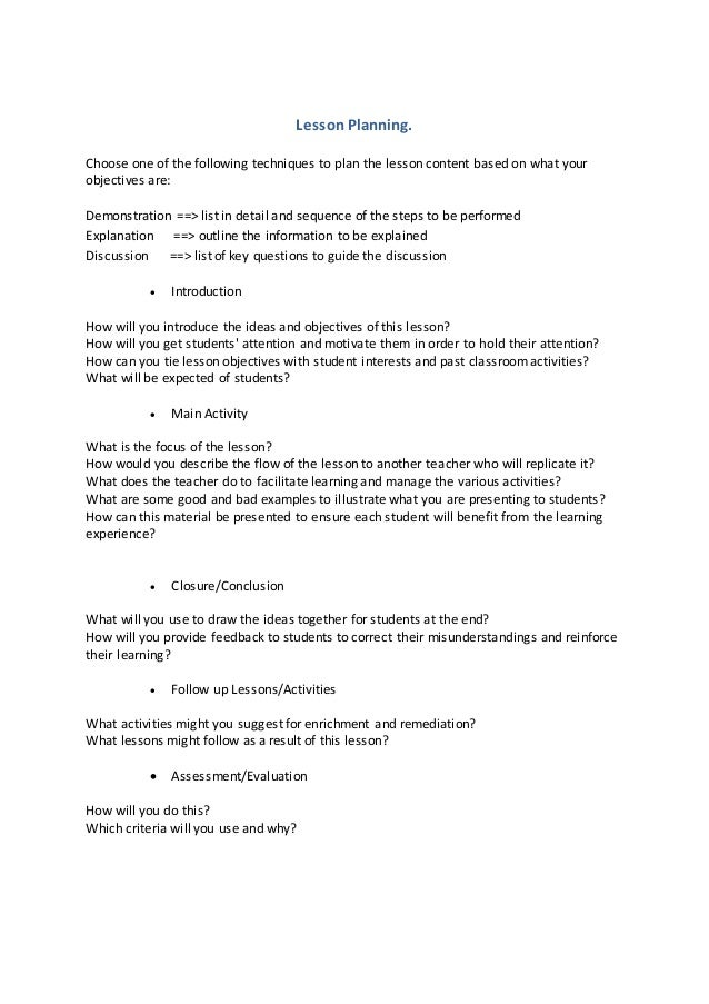 Lesson Planning Template Ict Sen And Ded Sept 2017