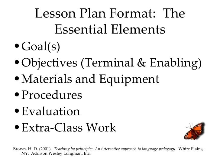 middle school lesson plan templates