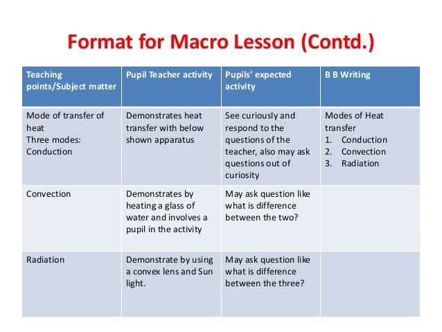 macro lesson plan