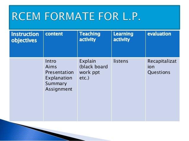 Lesson plan on instructional design