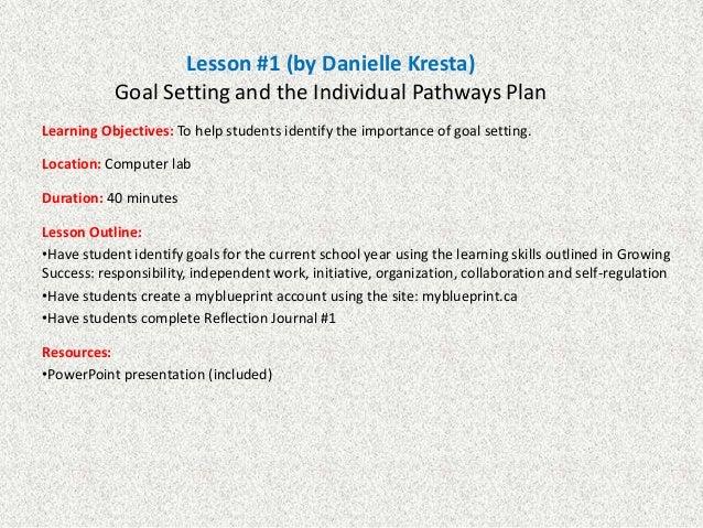 transition plan lesson plans