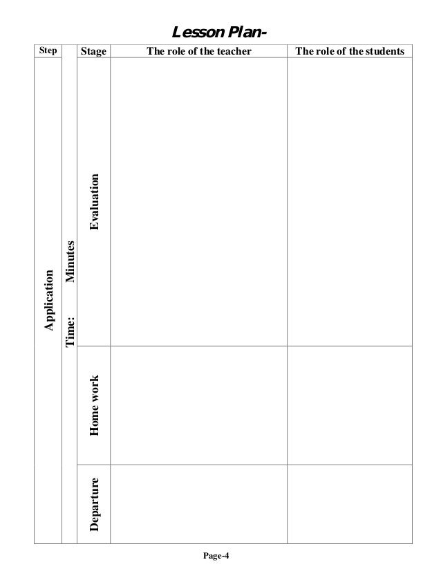 5 Step Lesson Plan Template | Lesson Plan Template