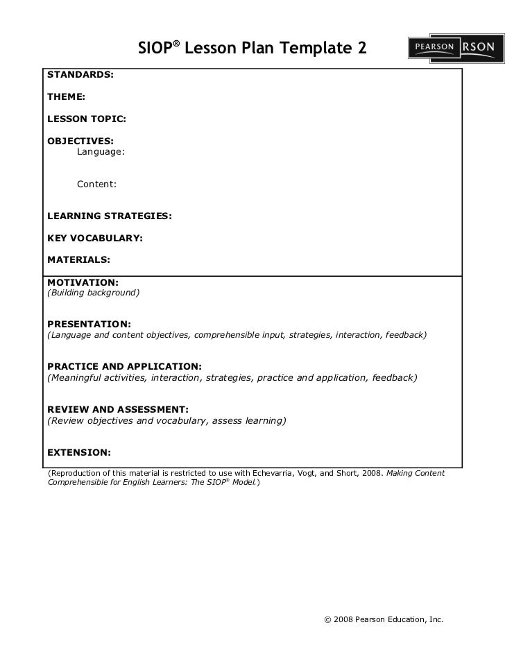 siop lesson plan template 3 word document - siop lesson plan template 1 siop unit lesson plan