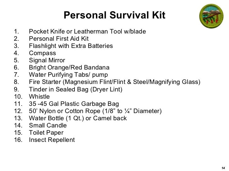 Exciting Scout Crafts - Wilderness Survival Kit