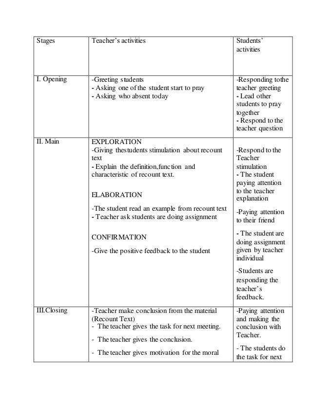 lesson plan writing test