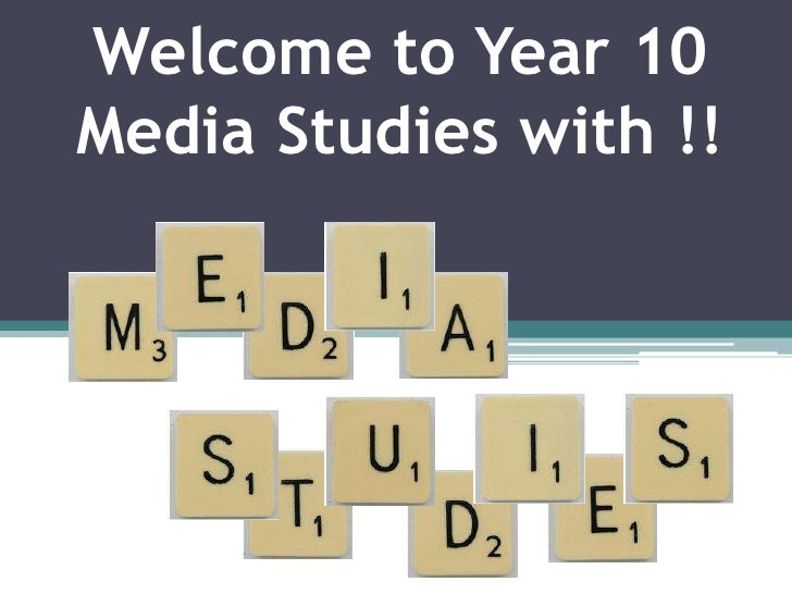 Welcome to Year 10 Media Studies with !!<br />