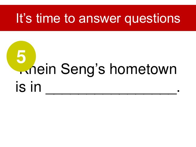 During the third year in university, he began conducting ________________. It's time to answer questions 6