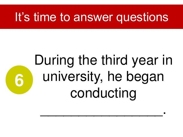 His success has brought him a lot of ________________. It's time to answer questions 7