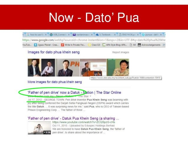 Advice from Dato' Pua