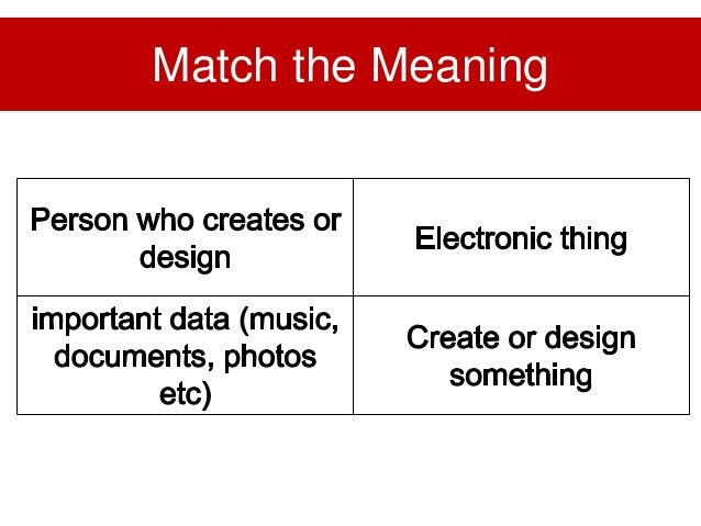 Match the Meaning