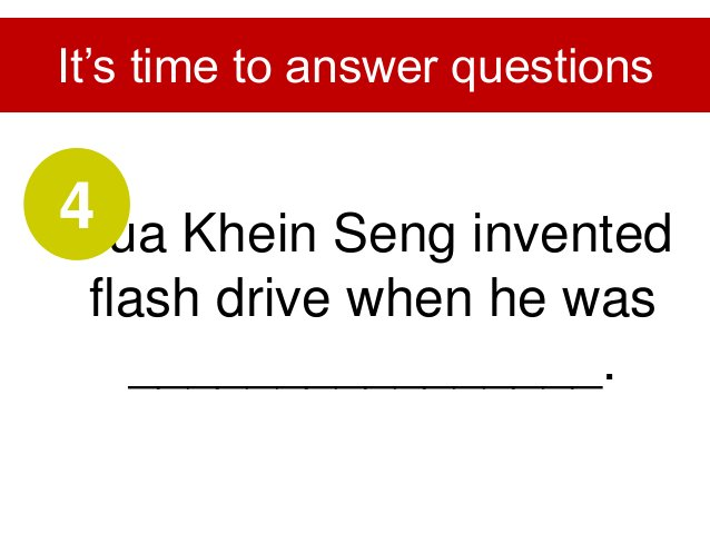 Khein Seng's hometown is in ________________. It's time to answer questions 5