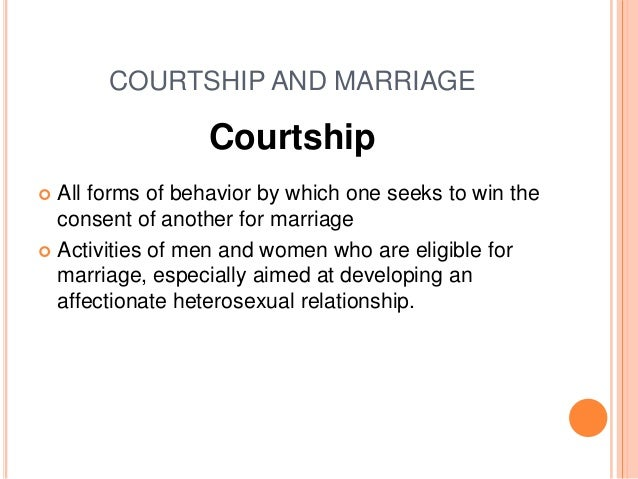 What is the definition of courting
