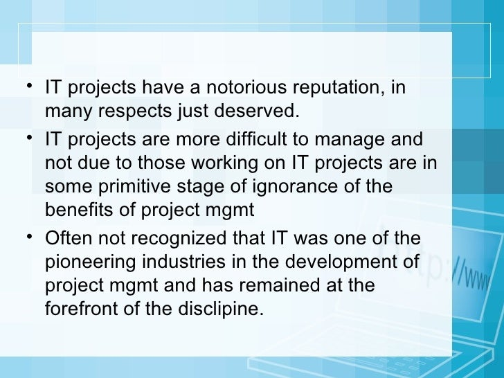 Lessons From IT and Non-IT Projects (by Peter W. G. Morris) Slide 3