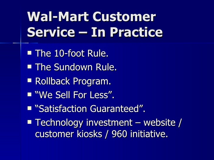 walmart customer service issues essay Free essay: walmart-china case analysis walmart-world's largest retailer, is a successful as a king of retailing in us market after this success, wal-mart.