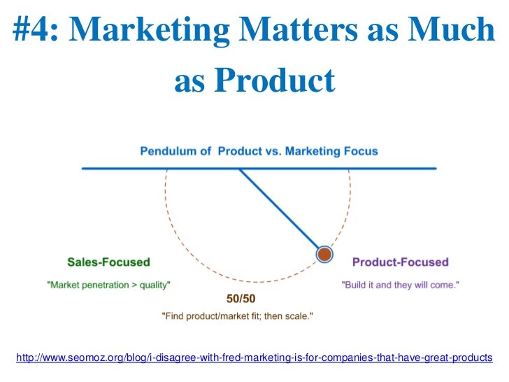 #4: Marketing Matters as Much         as Producthttp://www.seomoz.org/blog/i-disagree-with-fred-marketing-is-for-companies...