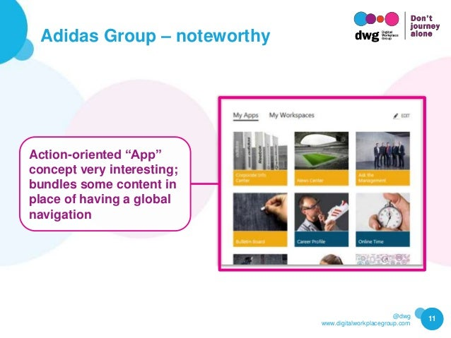 """@dwg www.digitalworkplacegroup.com Adidas Group – noteworthy 11 Action-oriented """"App"""" concept very interesting; bundles so..."""
