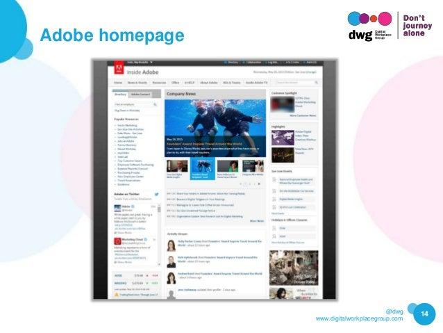 @dwg www.digitalworkplacegroup.com Adobe homepage 14
