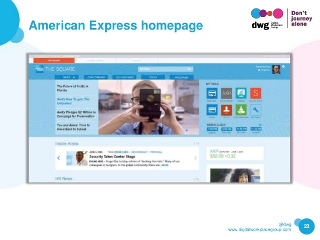 @dwg www.digitalworkplacegroup.com American Express homepage 23