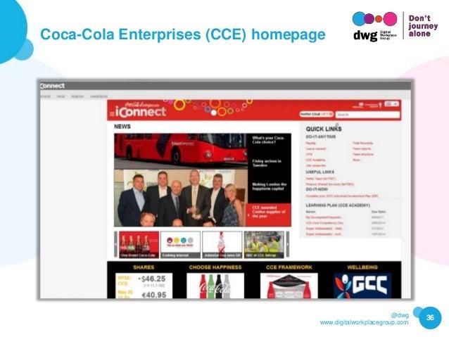 @dwg www.digitalworkplacegroup.com Coca-Cola Enterprises (CCE) homepage 36