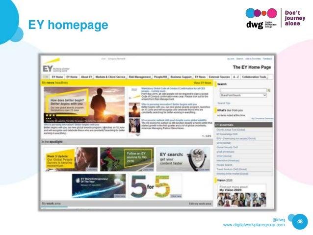 @dwg www.digitalworkplacegroup.com EY homepage 48