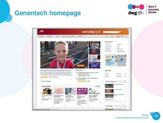 @dwg www.digitalworkplacegroup.com Genentech homepage 53