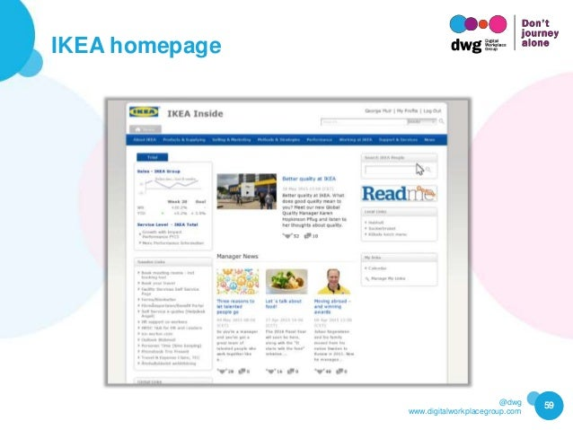 @dwg www.digitalworkplacegroup.com IKEA homepage 59