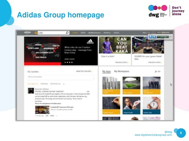 @dwg www.digitalworkplacegroup.com Adidas Group homepage 6