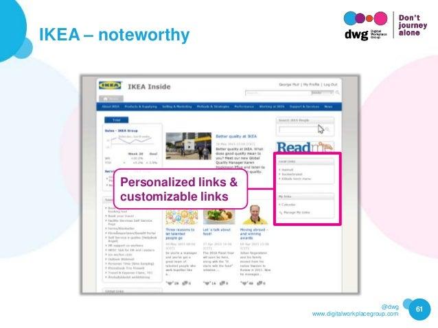 @dwg www.digitalworkplacegroup.com IKEA – noteworthy 61 Personalized links & customizable links