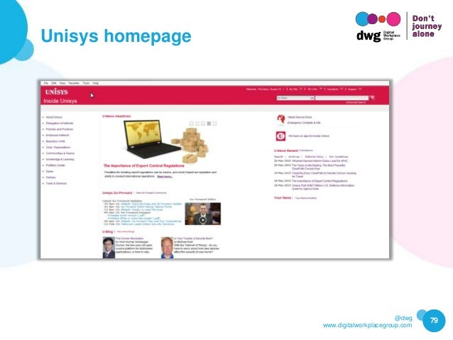 @dwg www.digitalworkplacegroup.com Unisys homepage 79