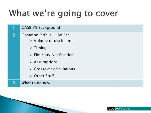 Lessons from the Front Lines of GASB 75 Reporting Slide 2