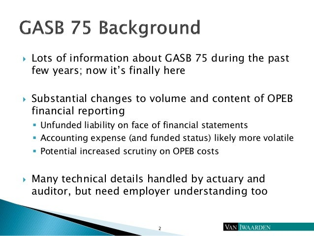 Lessons from the Front Lines of GASB 75 Reporting Slide 3