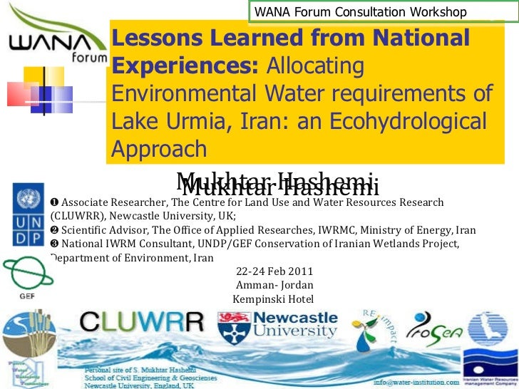 Lessons Learned from National Experiences:  Allocating Environmental Water requirements of Lake Urmia, Iran: an Ecohydrolo...