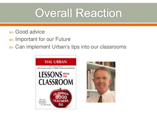 Lessons From The Classroom