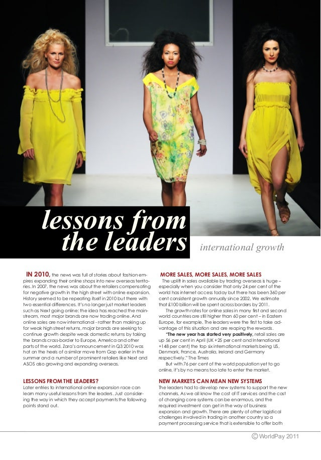 lessons from          the leaders                                                               international growth  IN 2...