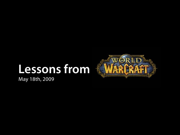 Lessons from May 18th, 2009