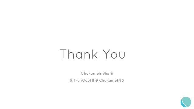 Chakameh Shafii @TranQool || @Chakameh90 Thank You