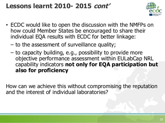 10 Lessons learnt 2010- 2015 cont' • ECDC would like to open the discussion with the NMFPs on how could Member States be e...