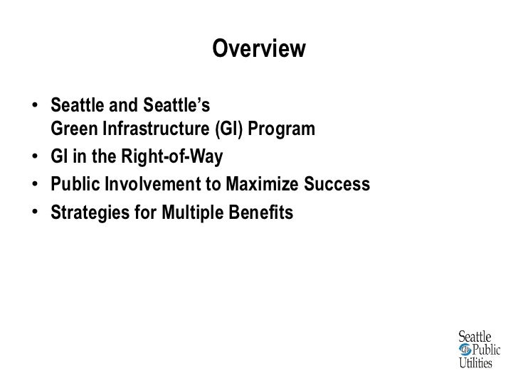 Lessons learned from green infrastructure project experience in developing code requirements and community engagement Slide 2