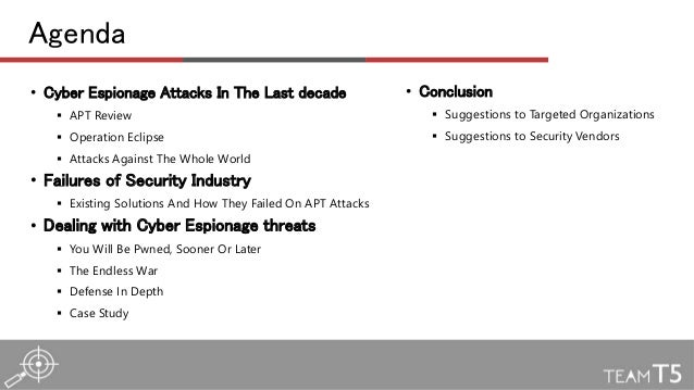 Lessons learned from hundreds of cyber espionage breaches by TT and Ashley - CODE BLUE 2015 Slide 2