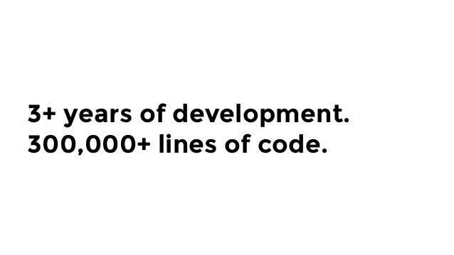 3+ years of development. 300,000+ lines of code.