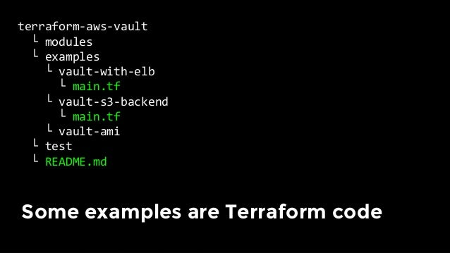 terraform-aws-vault └modules └examples └test └vault_with_elb_test.go └vault_s3_backend_test.go ...