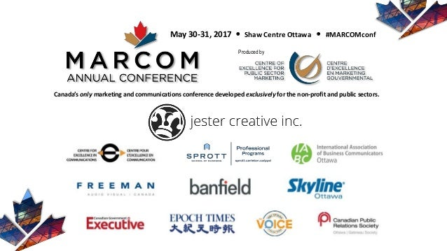 Canada's only marketing and communications conference developed exclusively for the non-profit and public sectors. May 30-...