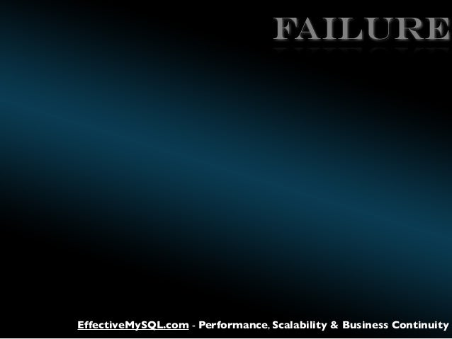 FAILURE  EffectiveMySQL.com - Performance, Scalability & Business Continuity