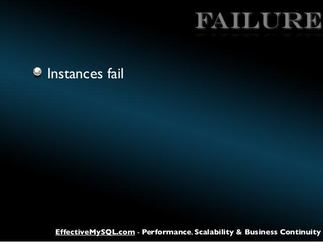 FAILURE Instances fail  EffectiveMySQL.com - Performance, Scalability & Business Continuity
