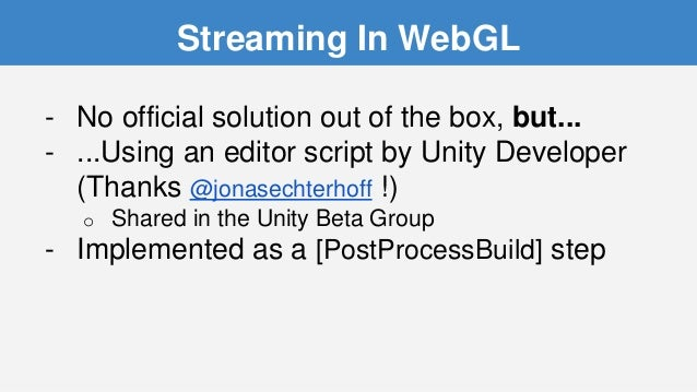 Lessons Learned with Unity and WebGL