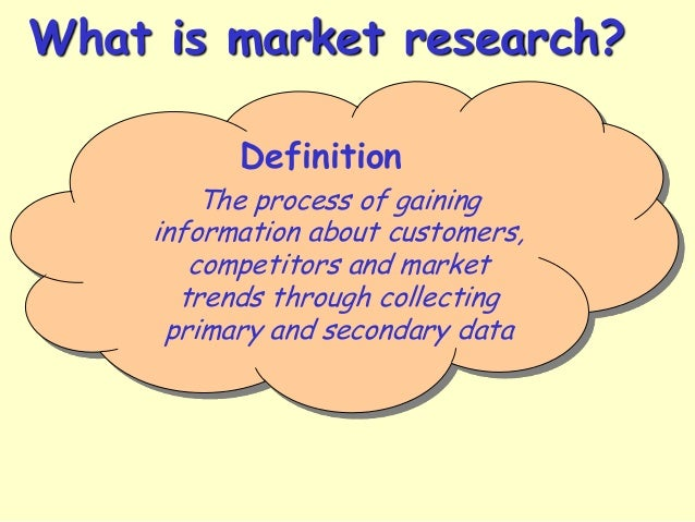 Definition of market research in business